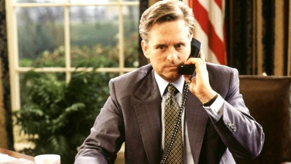 Michael Douglas as President Andrew Shepherd in The American President