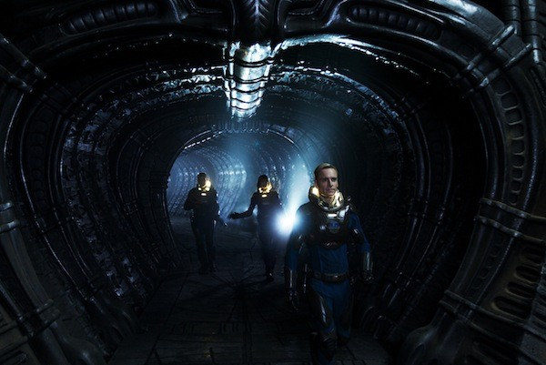 Michael Fassbender (front) in Prometheus (Photo: Fox)