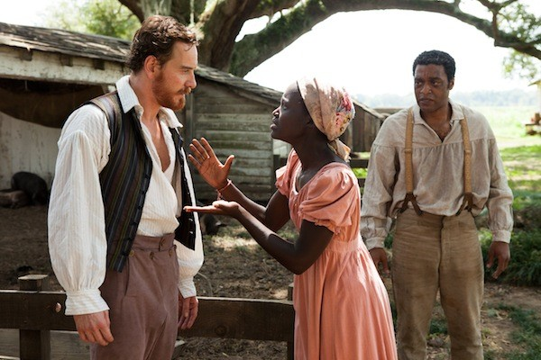 Michael Fassbender, Lupita Nyong'o and Chiwetel Ejiofor in 12 Years a Slave (Photo: Fox)