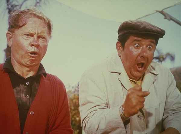 Mickey Rooney and Buddy Hackett in It's a Mad Mad Mad Mad World (Photo: Criterion)