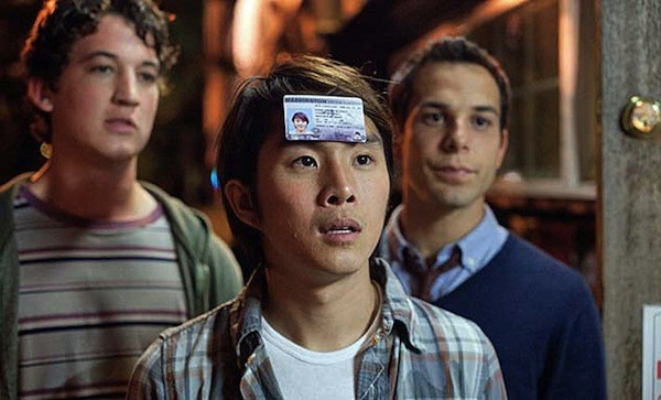 Miles Teller, Justin Chon and Skylar Astin in 21 & Over (Photo: Fox)
