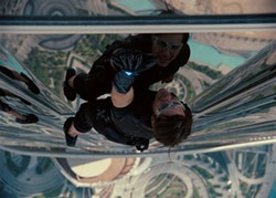 PARAMOUNT - MISSION: IMPROBABLE: The latest Mission: Impossible flick, starring Tom Cruise, is highly preposterous but also highly exciting.