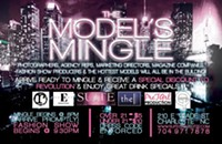 Models (and other industry folks) mingling tonight at Suite