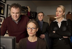 SONY PICTURES CLASSICS - MONITORING BEHAVIOR: John C. Reilly, Jodie Foster, Christoph Waltz and Kate Winslet in Carnage