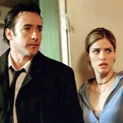 MOTEL HELL John Cusack and Amanda Peet check - out whats behind door number three - in Identity
