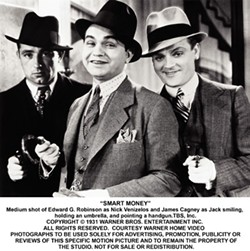 WARNER BROS. - MUG SHOTS: Edward G. Robinson and James Cagney in Smart Money.