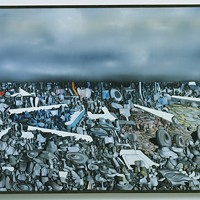 MULTIPLICATION OF THE ARCS by Yves Tanguy (1954). (From The Museum of Modern Art, New York, Mrs. Simon Guggenheim Fund)