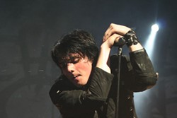 My Chemical Romance singer Gerard Way lets the spit fly. (Projekt Revolution, Verizon Wireless Amphitheatre, Aug. 8)
