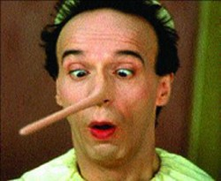 """MY MOVIE IS WONDERFUL!"" Roberto Benigni gets - caught telling the mother of all lies in Pinocchio"