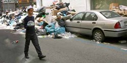 My street after garbage pickup. Just kidding!