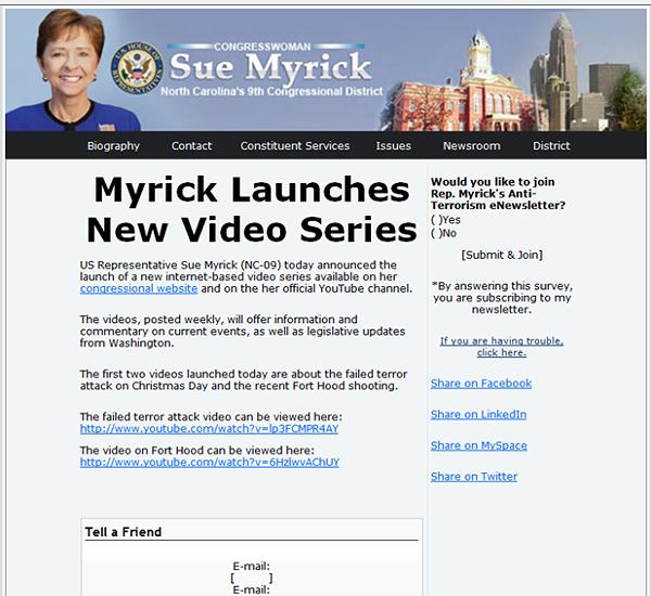 Myrick Video Announcement