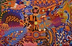 Mythic Visions: Yarn Paintings of a Huichol Shaman are - on display at Gallery L, Main Library, through June 27