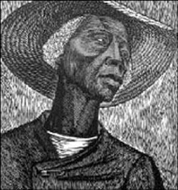 "NARRATIVES OF AFRICAN AMERICAN ART - AND IDENTITY  -  - Elizabeth Catlett's ""Sharecropper,"" part of the David C. - Driskell Collection, coming to the Mint Museum in 2002"