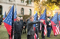 Nazi-tastic rally on Saturday draws the usual suspect, and then some
