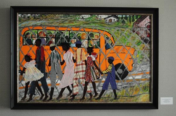 Nellie Ashfords school bus painting
