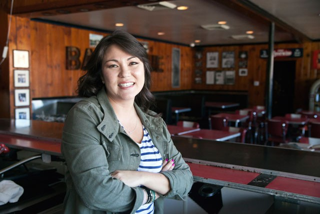 New owner Alesha Vanata stands inside the old Penguin, soon to become Comida.