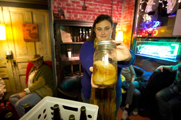 Nikki Davis, the Kombucha Lady, shows off her SCOBY - MEREDITH JONES
