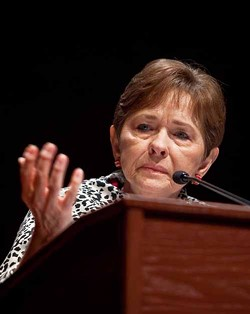 ROBERT GIROUX/MCT - NOTHING TO FEAR: Rep. Sue Myrick speaks to Iranian-Americans in D.C. Feb. 24.