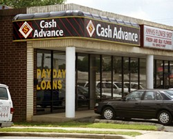 NOW DEFUNCT: Payday lending has been prohibited in North Carolina since 2001. - CHRIS RADOK