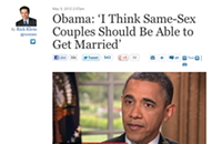 Obama declares support for same-sex marriage