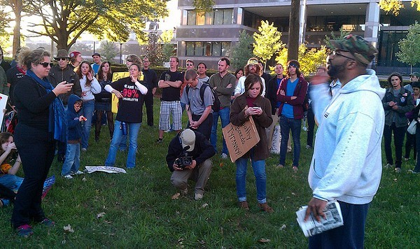 Occupy Charlotte at Old City Hall on Oct. 1