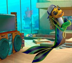 DREAMWORKS - OCEAN SOUNDS Oscar (Will Smith) floats to the top - of the nautical food chain in Shark Tale