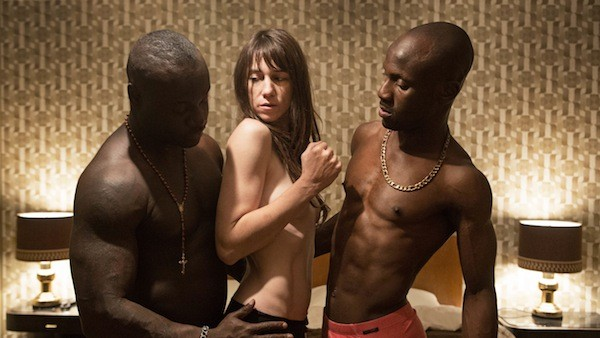 OH, BROTHER: Joe (Charlotte Gainsbourg) gets it on with two siblings (Kookie Ryan and Papou) in Nymphomaniac: Volume II. (Photo: Magnolia Pictures)