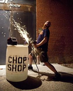 JEFF HAHNE - OL' SPARKY: The Chop Shop owner Jay Tilyard