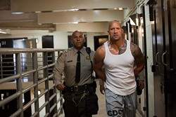 CBS FILMS - ON THE MARCH: Dwayne Johnson (right) in Faster