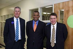ANGUS LAMOND - ONE DOWN, TWO TO GO: Mayoral candidates Joh Lassiter (left) and Anthony Foxx. Martin Davis (far right) is now out of the race.