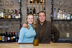 ANGUS LAMOND - ONE MO' TIME: Owner Steve Arooji (right) and his wine rep Haley Thompson