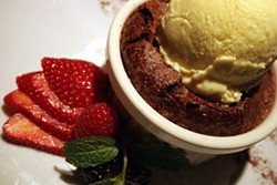 CATALINA KULCZAR - Oozing Chocloate Goodness: The Molten chocolate cake at Barrington's.