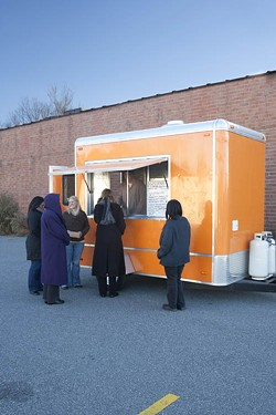 ANGUS LAMOND - ORANGE YOU GLAD TO SEE IT: Harvest Moon Grille's food truck