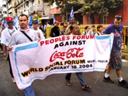 """AMIT SRIVASTAVA - Part of the 100,000 people in a """"non-event."""" - Demonstrators in India protest against Coca-Cola."""