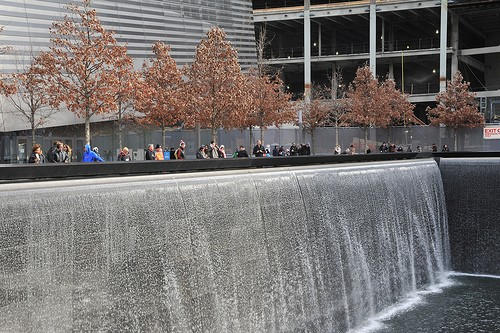 Part of the 9/11 memorial, in lower Manhattan