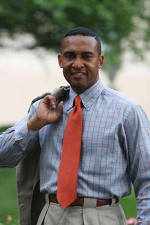 Patrick Cannon sporting his beloved orange tie in 2010. - JASIATIC