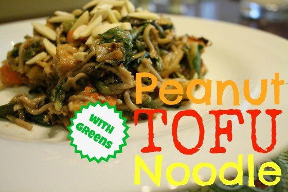 Peanut Tofu Noodle with Greens