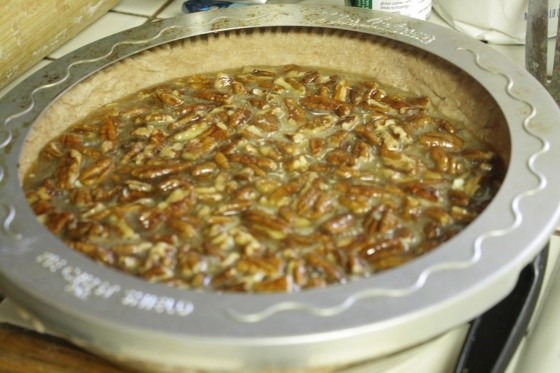 Pecan Pie with Crust Shield
