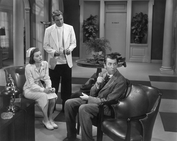 Peggy Dow, Charles Drake and James Stewart in Harvey (Photo: Universal)