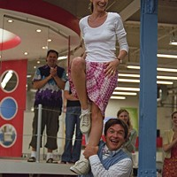PEPPY RALLY Sofia (Amanda Peet) and Chip (Jason Bateman) revive an old school cheer in The Ex