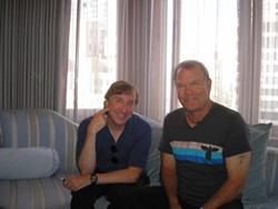 Peter Gerstenzang (left) with Glen Campbell