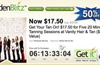 Fight pasty white legs with 50% off deal at Vanity Hair & Tan