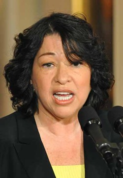 UPI PHOTO/KEVIN DIETSCH - PIONEER?: Depending on how her confirmation hearing (starting on July 13) goes, Sonia Sotomayor (above) could become the U.S. Supreme Court's first Latina judge.