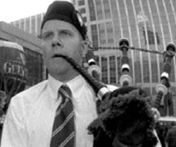 RADOK - PLAY THAT FUNKY MUSIC, WHITE BOY Bagpipes - filled the air downtown for St. Patrick's Day