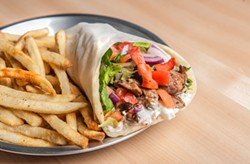 JUSTIN DRISCOLL - Pork gyro with baked fries