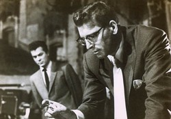 COURTESY OF THE CRITERION COLLECTION - POWER PLAY: Tony Curtis (background) and Burt Lancaster in Sweet Smell of Success.