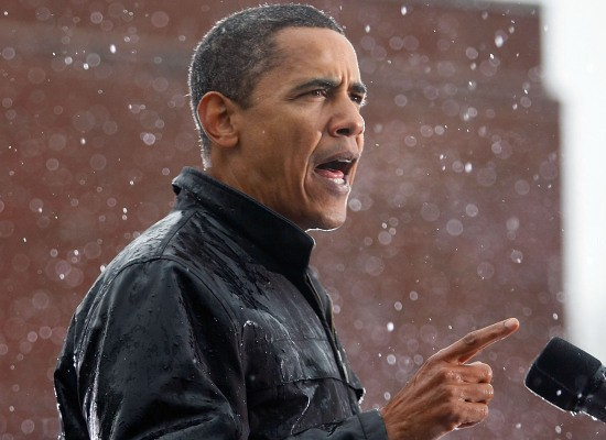 Pres. Obama cant stand the rain