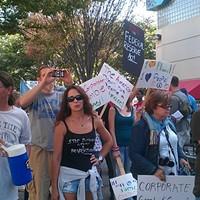 Protestors on Sat., Oct. 8, 2011