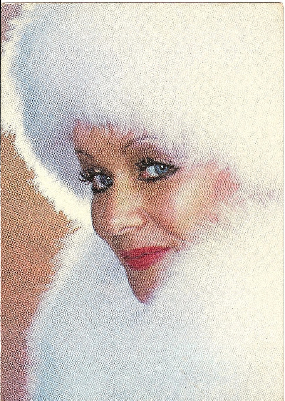 Queen of the Castle: Tammy Faye on a promotional holiday postcard at the height of PTLs success.