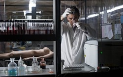 SONY PICTURES CLASSICS - QUIET, MAD SCIENTIST AT WORK: Antonio Banderas in The Skin I Live In